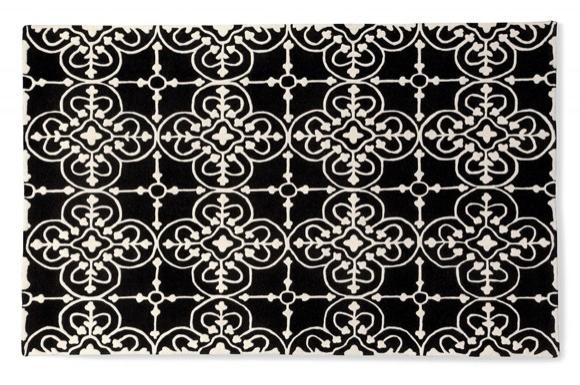 Lace μαύρο-άσπρο χαλί Calligaris