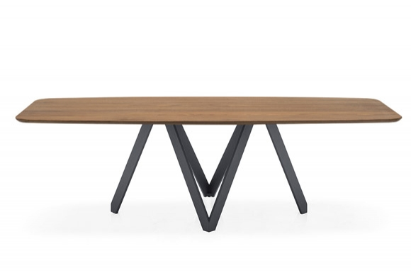 Cartesio οβάλ τραπέζι με ξύλο EL Calligaris
