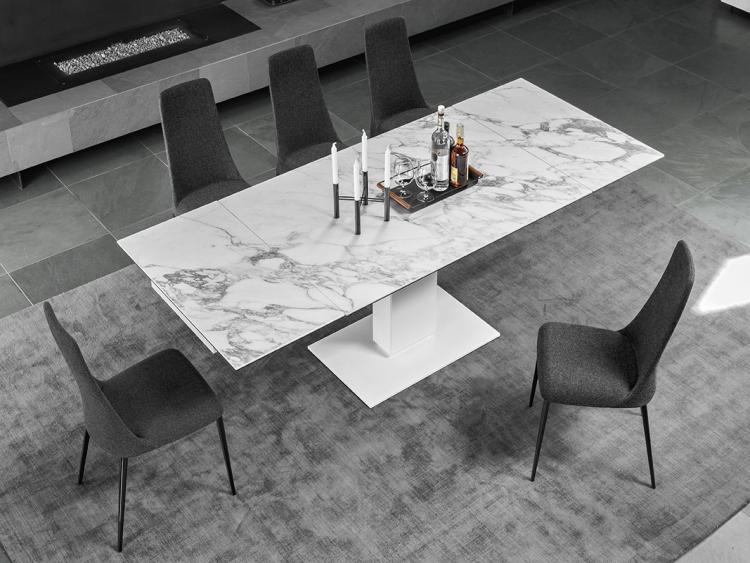 Echo παραλληλόγραμμο τραπέζι με μάρμαρο ή πέτρα Calligaris