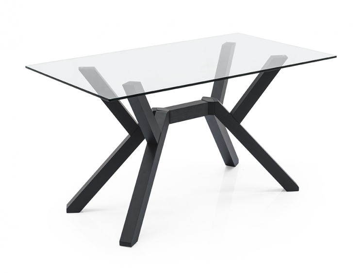 Mikado τραπέζι με κρύσταλλο και κεντρικό πόδι Connubia by Calligaris