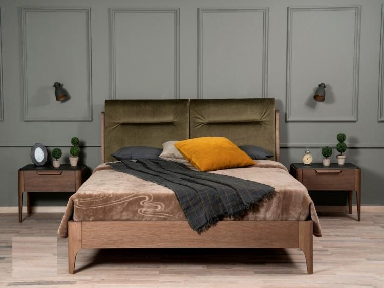 Libretto κρεβάρι με ύφασμα και ξύλο