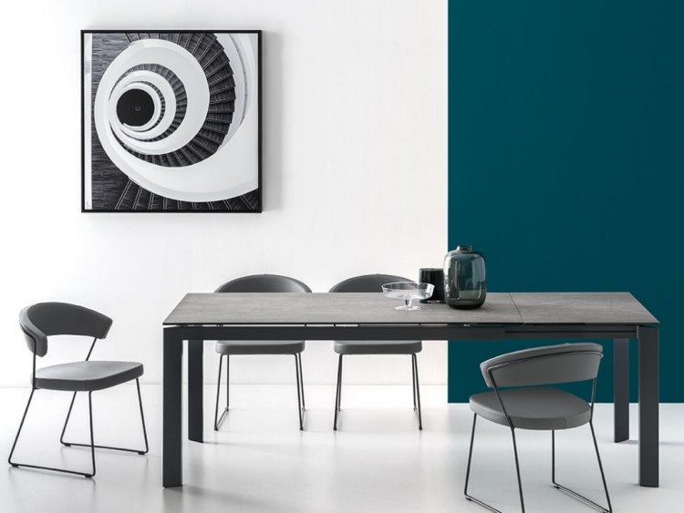 Baron τραπέζι με κεραμική πέτρα Connubia by Calligaris