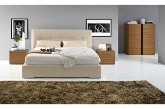 Swami κρεβάτι Calligaris προσφορά στο χρώμα της άμμου με 2 κομοδίνα και τουαλέτα στα 2640