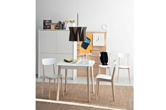 Cream τετράγωνο ή ορθογώνιο τραπέζι κουζίνας Calligaris