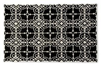Lace μαύρο-άσπρο χαλί Calligaris προσφορά -40%