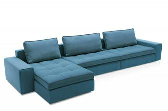 Lounge καναπές Calligaris προσφορά σε μπλε με λαδί ανοιχτό στα 1600 ευρώ