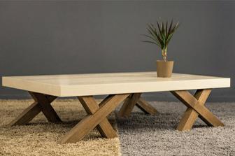 Hopus  τραπεζάκι σαλονιού με ξύλινα πόδια
