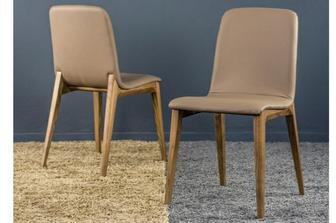 Guess καρέκλα προσφορά σε γκρι τεχνόδερμα και φυσικό πόδι 6/άδα