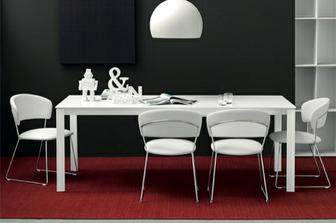 Eminence τραπέζι με μεταλλικά πόδια Connubia by Calligaris