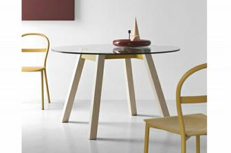 T-Table στρογγυλό τραπέζι Connubia by Calligaris