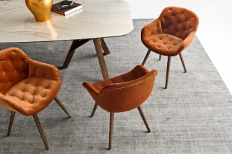 Igloo Soft καρέκλα με βελούδο ή τεχνόδερμα Calligaris