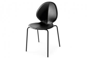 Basil καρέκλα με μεταλλικά πόδια και τεχνόδερμα Calligaris
