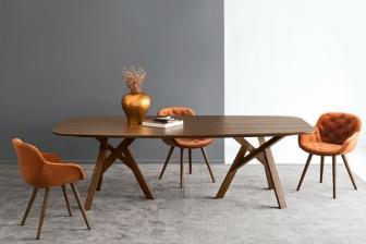 Jungle οβάλ τραπέζι με ξύλινη επιφάνεια EL Calligaris