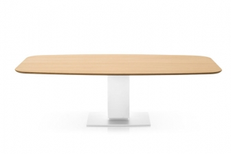 Echo οβάλ τραπέζι με ξύλο FEL Calligaris