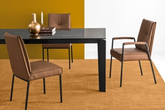 Romy καρέκλα Calligaris με ξύλινα ή μεταλλικά πόδια