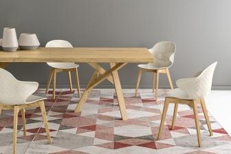 Saint Tropez W καρέκλα με ξύλινα πόδια Calligaris