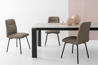 Creta καρέκλα με ξύλινα ή μεταλλικά πόδια Connubia by Calligaris