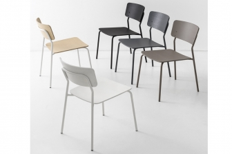 Snack καρέκλα με μεταλλικά πόδια