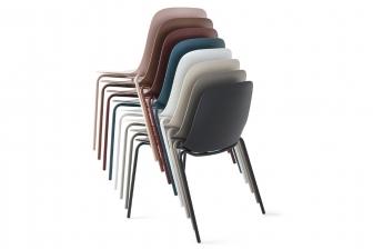 Vela καρέκλα με μεταλλικά πόδια Calligaris