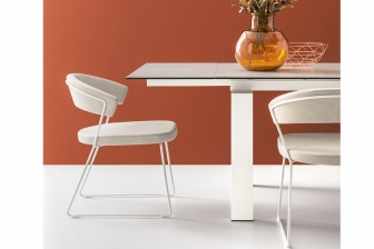 New York καρέκλα με 2 πόδια Connubia by Calligaris