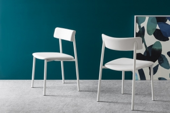 Up καρέκλα με μεταλλικά πόδια Connubia by Calligaris