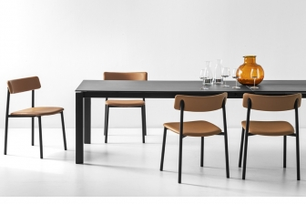 Eminence τραπέζι κουζίνας με μεταλλικά πόδια Connubia by Calligaris