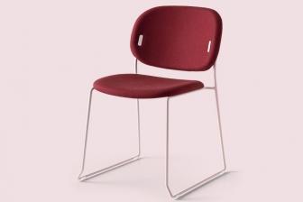Υο καρέκλα με δύο μεταλλικά πόδια Connubia by Calligaris