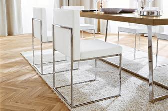 Even Plus καρέκλα Calligaris προσφορά σε taupe/γκρι δέρμα ή σε λευκό δέρμα και μαύρο νίκελ