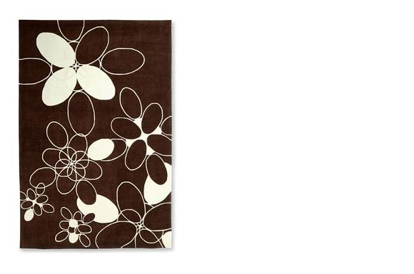 Petals καφέ χαλί Calligaris
