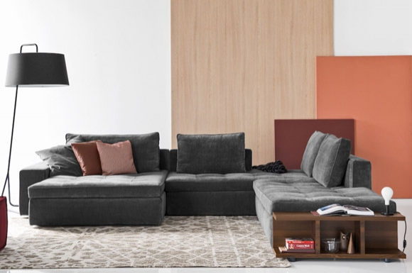 Lounge γωνιακός καναπές ή διθέσιος και τριθέσιος Calligaris