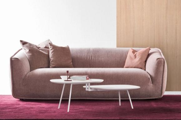 Sweet τριθέσιος καναπές Calligaris