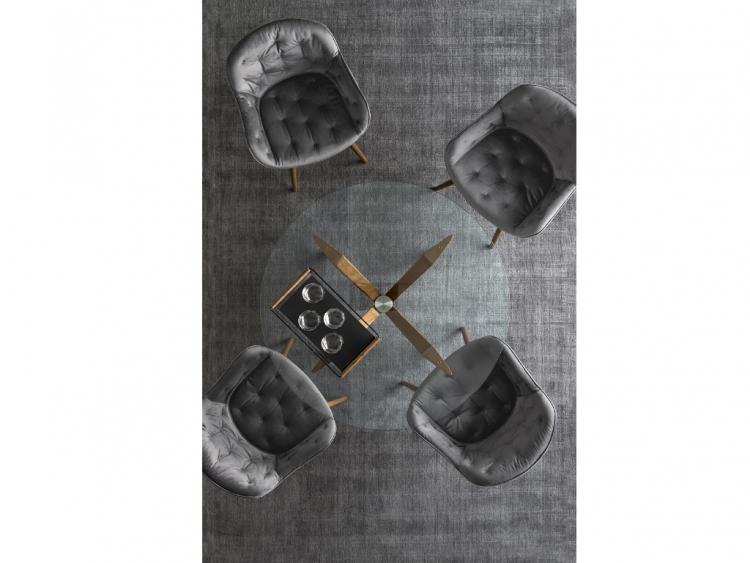 Τokyo στρογγυλό τραπέζι με κρύσταλλο Calligaris