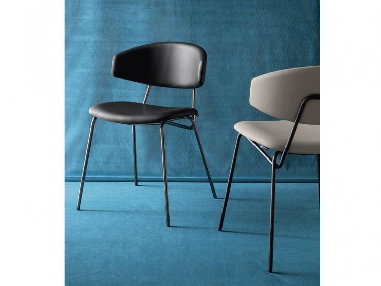 Sophia καρέκλα με μεταλλικά πόδια Calligaris