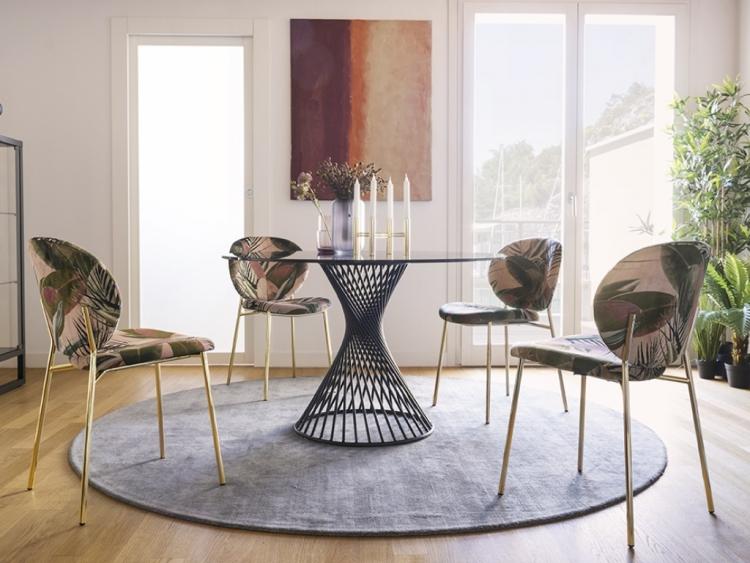 Vortex στρογγυλό τραπέζι με κρύσταλλο Calligaris