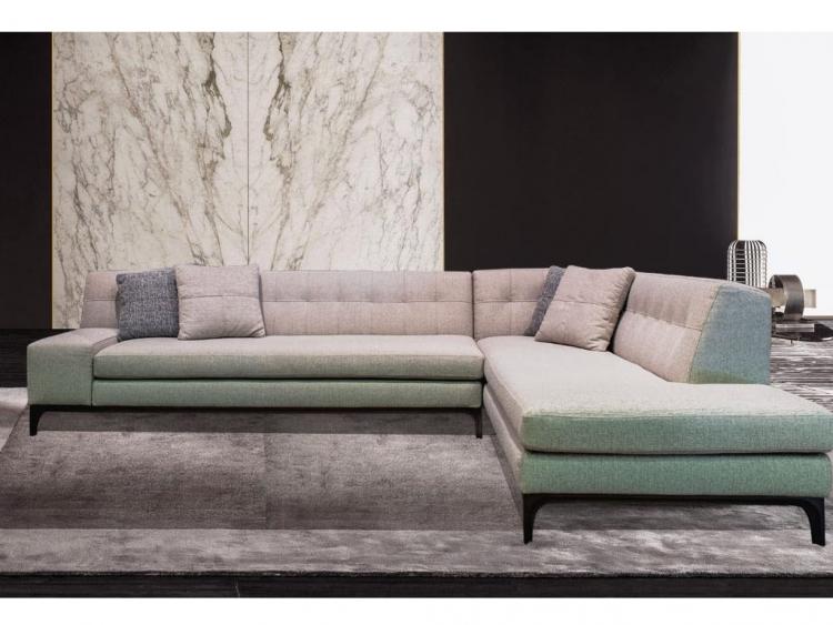 Cubo γωνιακός ή διθέσιος και τριθέσιος καναπές με ξύλινο πόδι