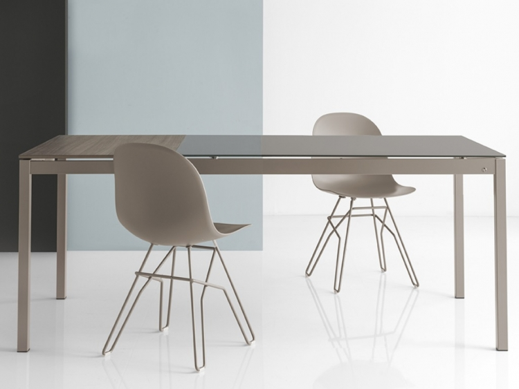 Snap Glass τραπέζι κουζίνας Connubia by Calligaris