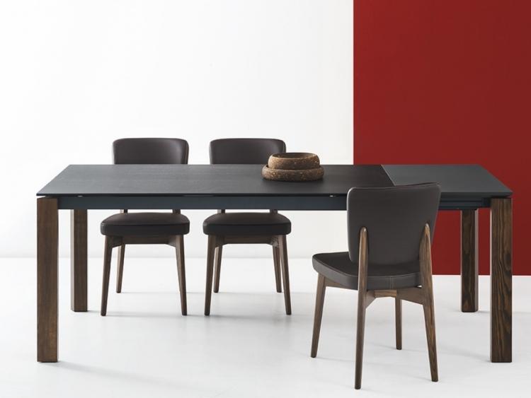 Eminence τραπέζι με κεραμική επιφάνεια και ξύλινα/λακαριστά πόδια
