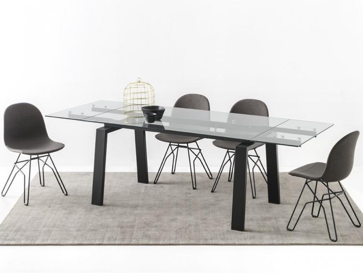 Zeffiro τραπέζι με κρύσταλλο Connubia by Calligaris