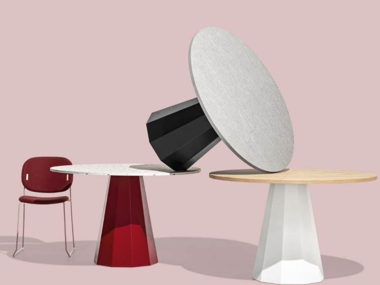 Dix στρογγυλό τραπέζι Connubia by Calligaris
