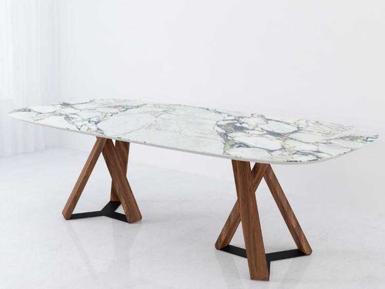 Done κεραμικό τραπέζι με στογγυλεμένο τελείωμα