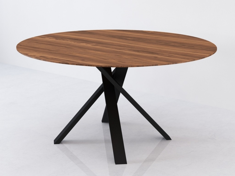 Bow στρογγυλό τραπέζι με ξύλο