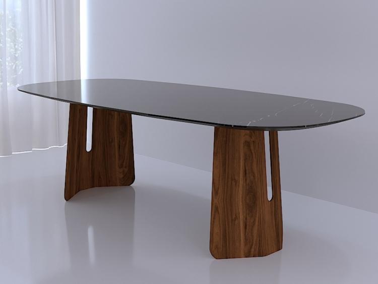 Esc οβαλ τραπέζι με κεραμικό