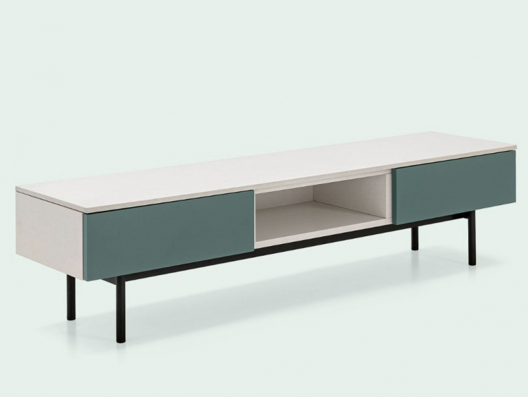 Made έπιπλο TV 101-5 με μεταλλικά πόδια Connubia by Calligaris