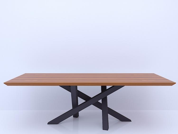 Voltagio τραπέζι με ξύλινη επιφάνεια