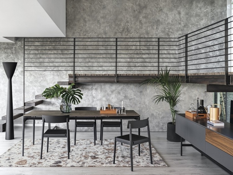 Silhouette τραπέζι με κεραμικό Calligaris