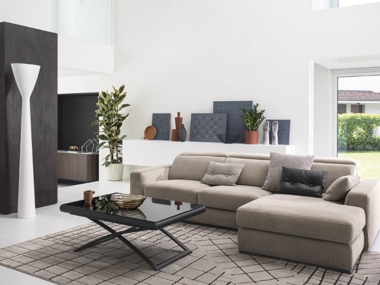 Cast διθέσιος, τριθέσιος και γωνιακός καναπές Calligaris