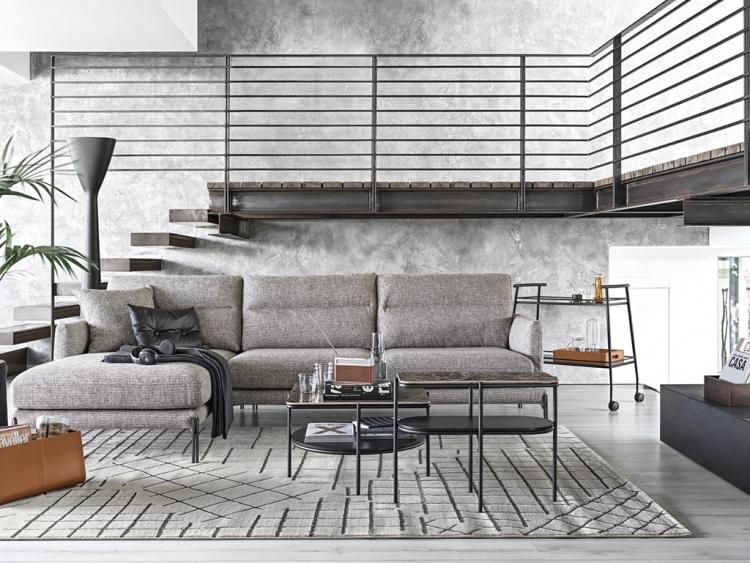 Twin διθέσιος, τριθέσιος και γωνιακός καναπές Calligaris