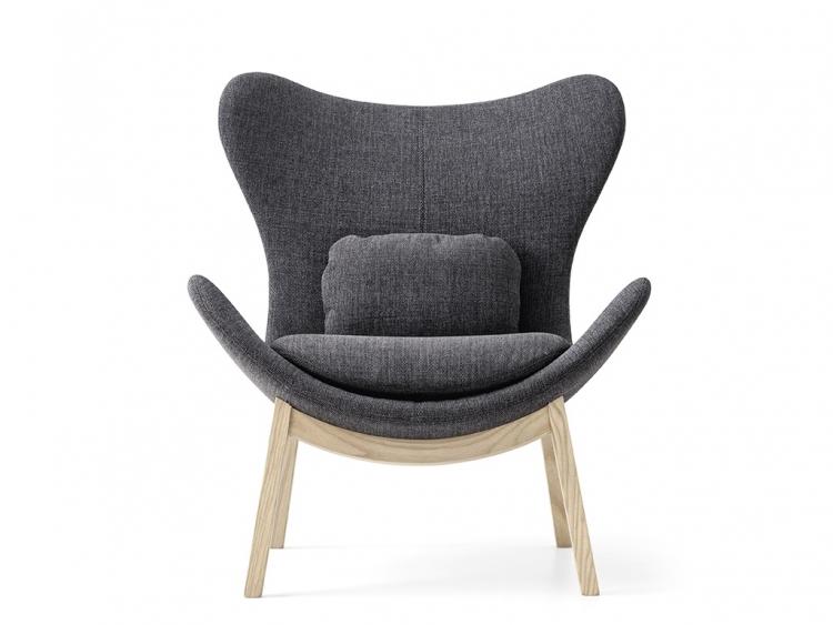 Lazy πολυθρόνα με ξύλινα πόδια Calligaris