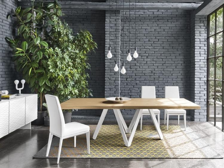 Cartesio τραπέζι με ξύλινο καπάκι FRΑ Calligaris
