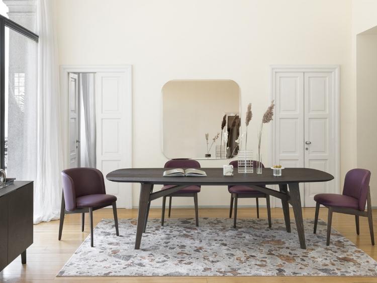 Abrey οβάλ ξύλινο τραπέζι Calligaris